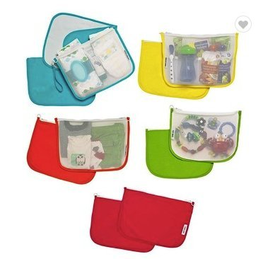New Diaper Bag Organizer XL Pouch Set with Zippers, 27Baby Color Coded and Labeled, Snacks, Toys, Clothes, Diaper Bags, Baby Wipes, Travel Friendly, Storage Compartments Baby Shower Gift Organizer ()