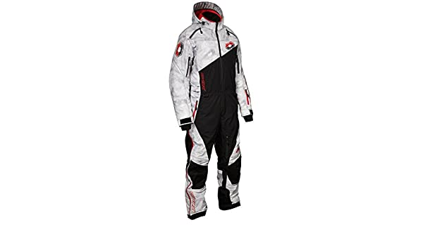 Castle X Freedom Monosuit Snowmobile Suit - Shell - Alpha Gray/Red (LRG)