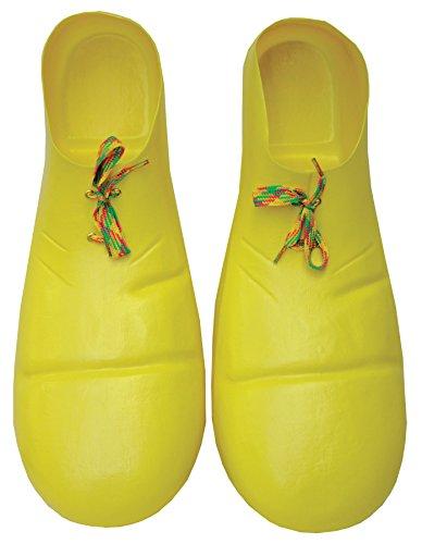 [Ellie Shoes Clown Shoe Plastic Yellow] (Adult Yellow Clown Shoes)