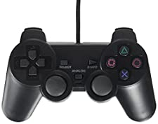 OSTENT Wired Controller Gamepad Joypad Joystick Compatible for Sony Playstation 2 PS2 Console Dual Shock Video Game