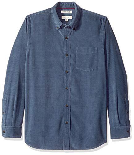 Goodthreads Men's Slim-Fit Long-Sleeve Corduroy Shirt, -denim, X-Large