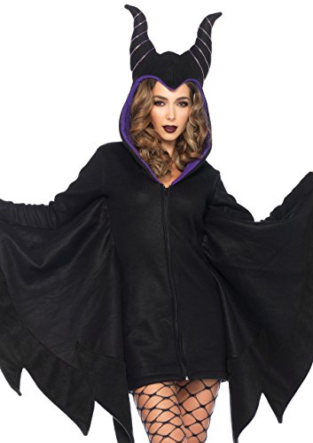 Leg Avenue Women's Cozy Villain Costume, Black, Small -
