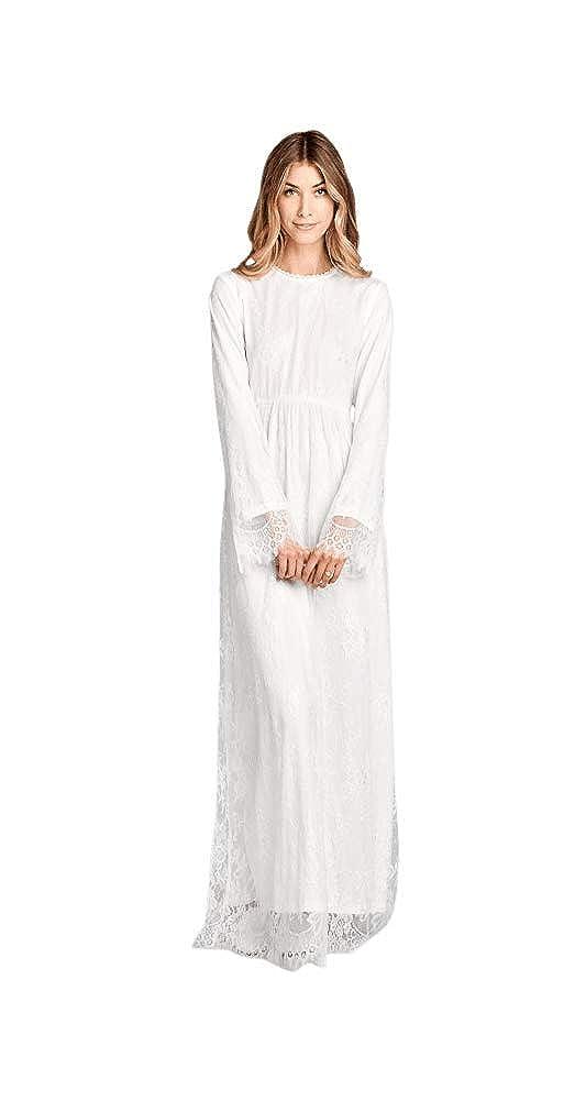 d97d2b79cb Jen Clothing Ella LDS Temple Dress in White Eyelash Lace at Amazon Women s  Clothing store