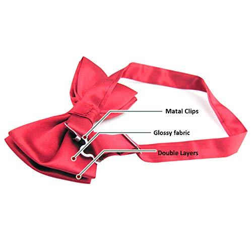 Clair Pour Pré Vacances Mode Alizeal attachées De Les Réglables rose D'arc Cravates Hommes qxA87T