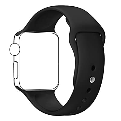 Blesihu Replacement Band for iWatch Series 2 Series 1, Strap Bands for iwatch, Silicone Sport Style Wristband, Both 38mm and 42mm Models Available