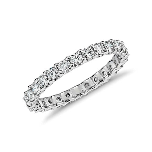 NYC Sterling 2.50mm Sterling Silver 925 Cubic Zirconia Eternity Engagement Wedding Band Ring (8)
