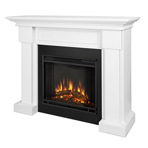 Real Flame Hillcrest Electric Fireplace in White, -