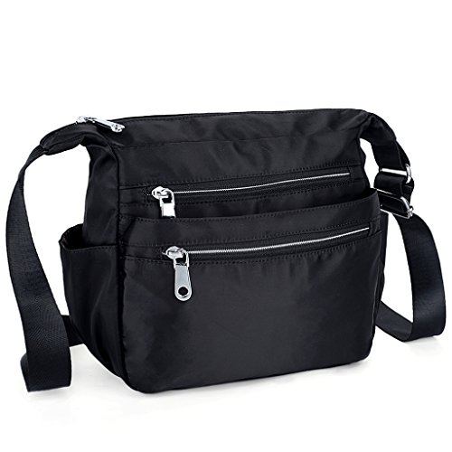 UTO Borsa a Tracolla Donna in Oxford impermeabile sacchetto di spalla borsa a tracolla per iPad ,Kindle e Compresse