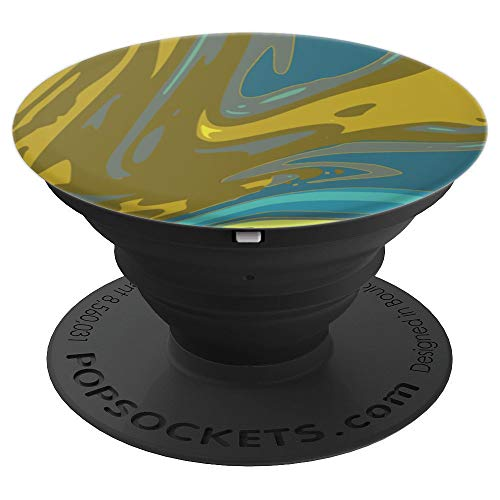 arbled Water Blue Dark Camo Elegant - PopSockets Grip and Stand for Phones and Tablets ()