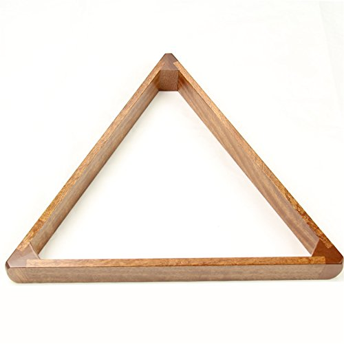 Made in the UK - 2 1/4 Inch 15 Ball Peradon Luxury Solid Mahogany Wooden Triangle ()