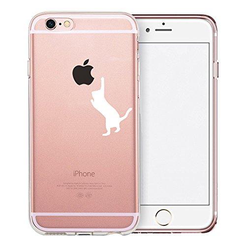 [해외]아이폰 6S 플러스 케이스 스위프트 박스 클리어 케이스 디자인 아이폰 66S 플러스 강화 유리 화면 보호기 (흰색 고양이) / iPhone 6S Plus Case SwiftBox Clear Case with Design for iPhone 66S Plus with Tempered Glass Screen Protector (White ...