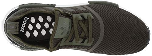 adidas Originals Men's NMD_R1 Running Shoe, Night Cargo/Black, 4 M US by adidas Originals (Image #8)