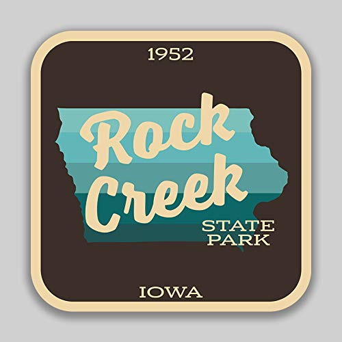 JMM Industries Rock Creek State Park Iowa Vinyl Decal Sticker Car Window Bumper 4-Inches 4-Inches Premium Quality UV Protective Laminate SPS01053
