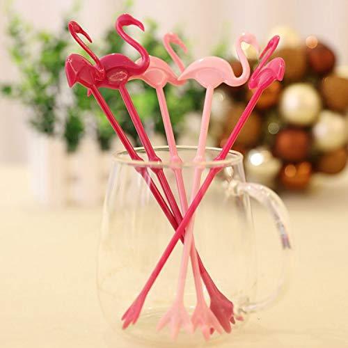 Astra Gourmet Set of 5 Novelty Hawaii Flamingo Cocktail Swizzle Stir Sticks Drink Stirring Bar Restaurant Drink -