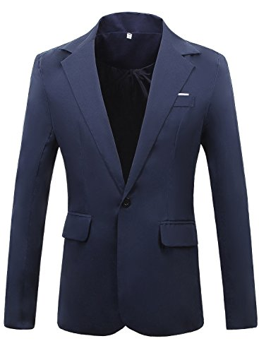 Miedeon Mens Slim Fit Casual One Button Blazer Jacket