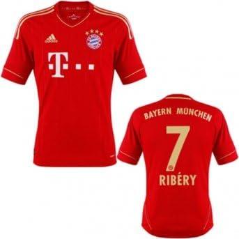 adidas FC Bayern Ribery Camiseta Home 2012, 176: Amazon.es: Deportes y aire libre