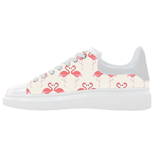 Flamingo Modello Scarpe Women's Canvas Shoes Scarpe Le Custom kXiTPuOZ