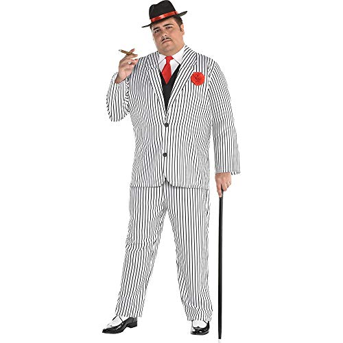 amscan Gangster Halloween Costume for Men, Plus Size, with Included Accessories -