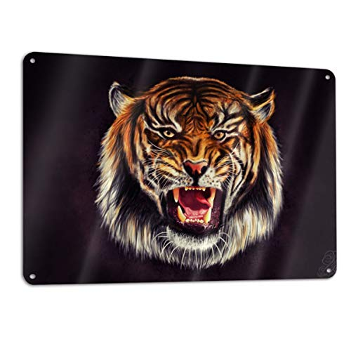 Eleanore Johnson Tiger Signage 12¡± X 18¡± Metal Sign Aluminum Safety Signs/Utility Signs/Information Signs and Equipment Warning Signs Indoor/Outdoor