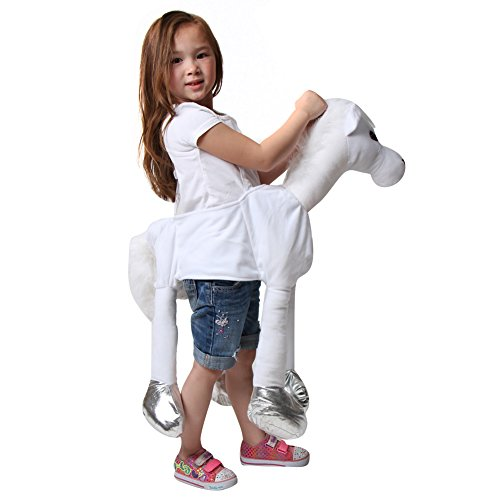 [White Ride On Horse Costume] (Kids Horse Costumes)