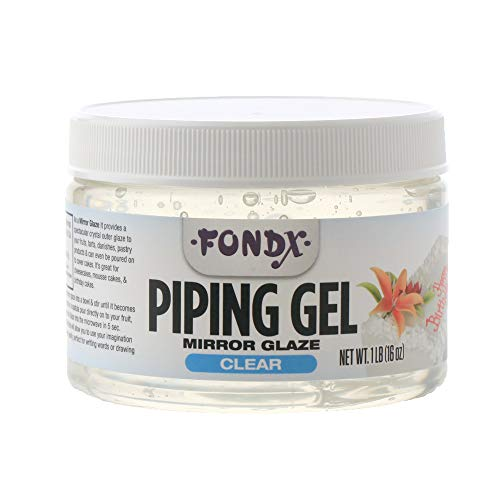 - FondX Clear Mirror Glaze Piping Gel, 1 Pound