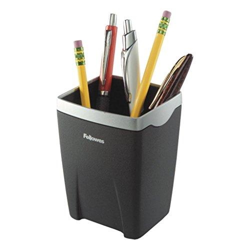 Suites Pencil Cup - FEL8032301-2 Compartment Pencil Cup - Fellowes Office Suites Pencil Cup - Each