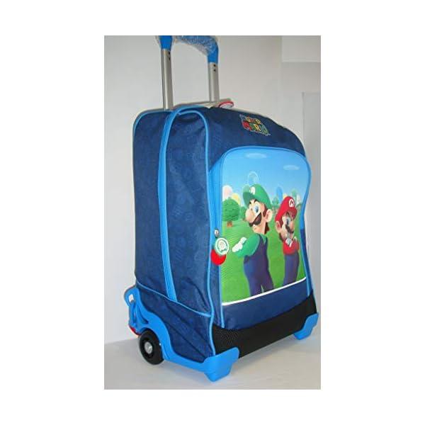 Super Mario Zaino Trolley Scuola 200340 Blù 3 spesavip