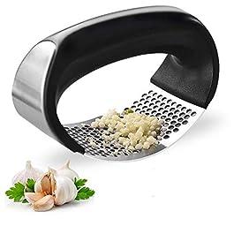CARDEX Garlic Press Rocker, Premium Garlic Press Stainless Steel,Easy Operate and Clean Kitchen Gadget