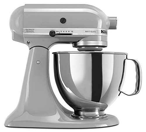KitchenAid KSM150PSMC Artisan Series 5-Qt. Stand Mixer with Pouring Shield - Metallic Chrome by KitchenAid
