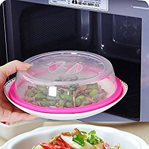 """Genmine Plate Topper Universal Leftover Lid Microwave Cover Airtight Plate Topper (Pink) (Dia 7.5"""") by Genmine"""
