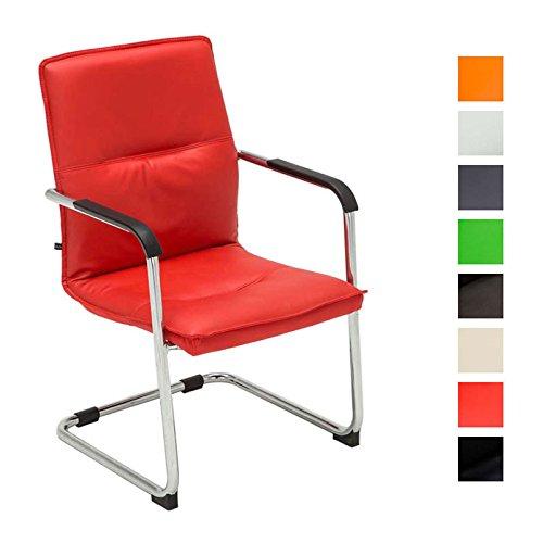 9 opinioni per CLP Sedia cantilever SEATTLE con braccioli, sedia per ospiti / sedia per