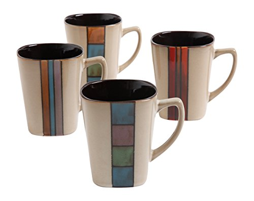 Gibson Home 101751.04RM Cafe Melange 14 Ounce Mugs, Multicol