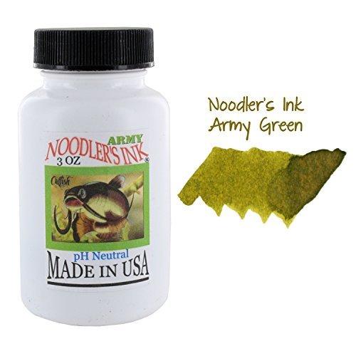Noodler's Ink Fountain Pen Bottled Ink, 3oz, Army Green by Noodler's by Noodler's (Image #1)