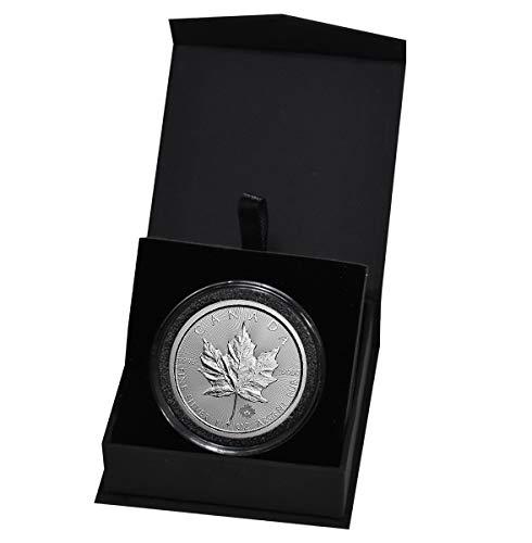2018 CA Canadian Maple Leaf 1 Troy Oz Silver Bullion in Capsule and Presentation Box $5 Dollars Brilliant Uncirculated