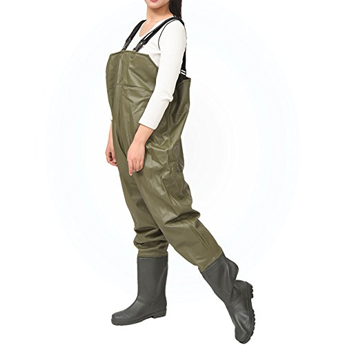 Fishing boot foot wader women nylon pvc waterproof fishing for Fishing waders amazon