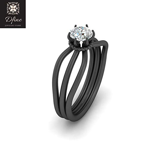 Round Brilliant Cut 0.50ct Simulated White Diamond Solitaire Engagement Ring Solid 14k Gold