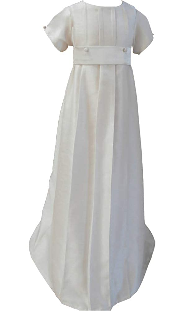Michealboy Traditional Heirloom Christening Outfit Dress Dedication with Bonnet White