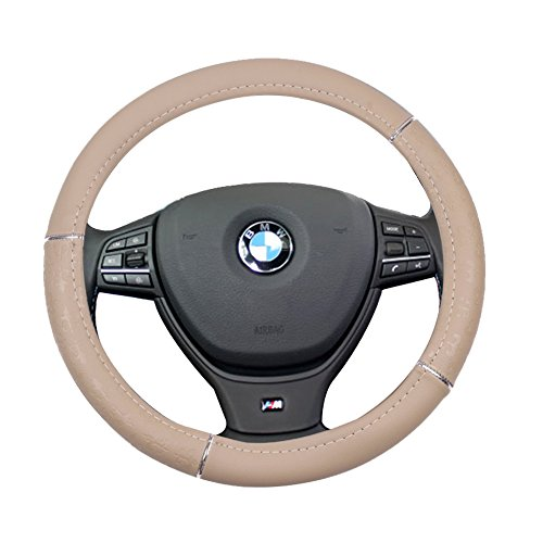 al 15 Inch Steering Wheel Cover Leather Protection Breathable Auto Steering Wheel Cover ()