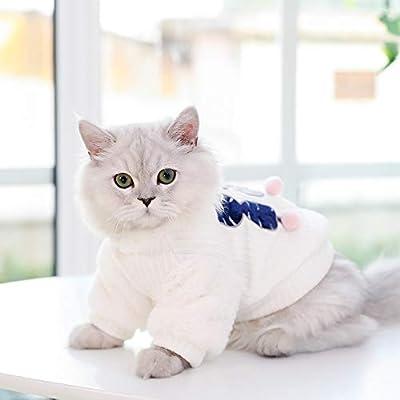 ZHAOYAN - Ropa de Gato para otoño e Invierno, Gruesa, Ropa para Gatos, Ropa de bebé, Ropa de Gato, Color Rojo: Amazon.es: Productos para mascotas