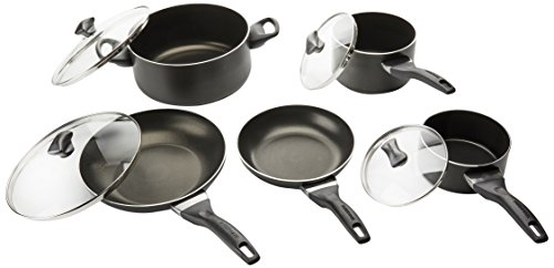 Farberware 21806 Cookware Set, Black
