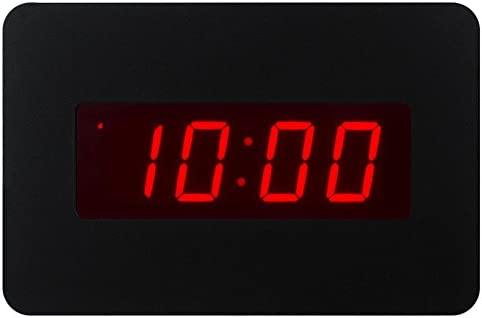 Timegyro Digital LED Alarm Clock Wall Clock for Bedrooms Operated by Battery Only Black