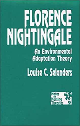 florence nightingale an environmental adaptation theory notes on nursing theories 9780803948600 medicine health science books amazoncom