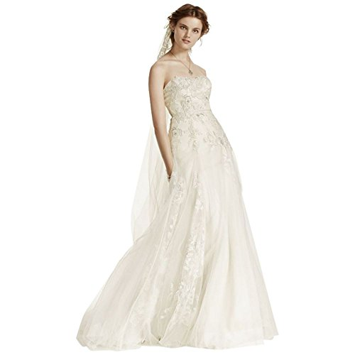 3D Sample AI25070455 Tulle Flowers is Champagne Dress Style Ivory As Wedding rnnXWAR