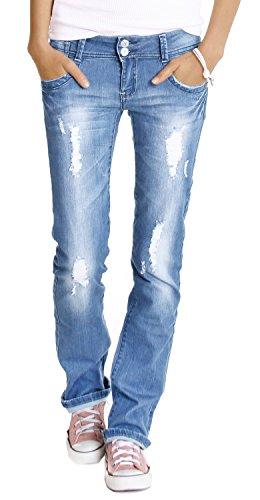 femmes Bleu pour Jean basse jean taille j28x Bestyledberlin ERqHf
