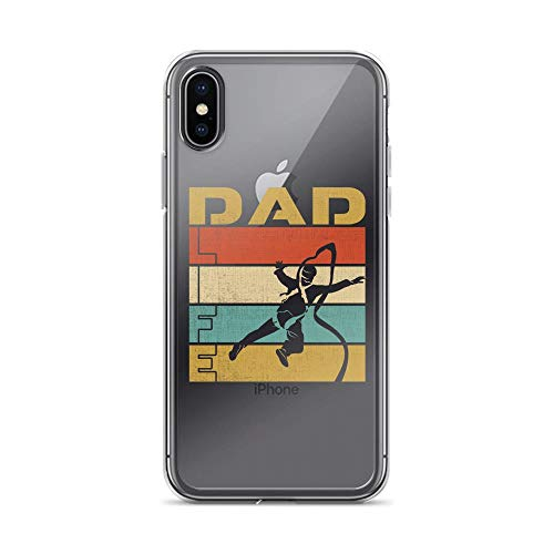 iPhone X/XS Pure Clear Case Cases Cover Parachute Dad Life Vintage TPU Flexible Compatible -