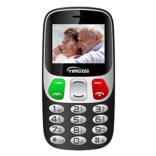 🥇 Teléfono Móvil para Personas Mayores con Teclas Extra Grandes Celular con SOS Botones by YINGTAI T47 2G