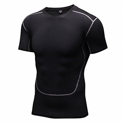 Maoko Men's Sport Compression Short-Sleeve Athletic Shirts Baselayer