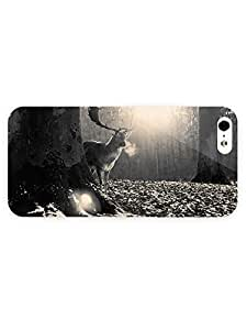 3d Full Wrap Case For Iphone 5/5S Cover Animal Deer In The Forest47