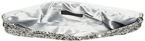 L.CREDI Dancing Queen - Bolso de hombro de lentejuelas mujer Plata - Silber (Silber)