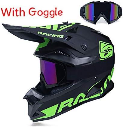 MRDEAR Full Face MTB Helmet with Goggles Gloves Mask Helmet Net Black//Rockstar Adult Motorcycle Motocross Helmet Set Motorbike Off Road Crash Helmet Protective Gear